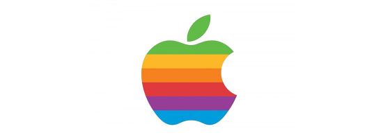 The Rainbow Bitten Apple Logo