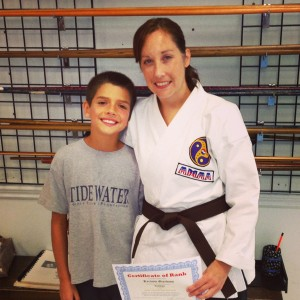 Keri's brown belt promotion
