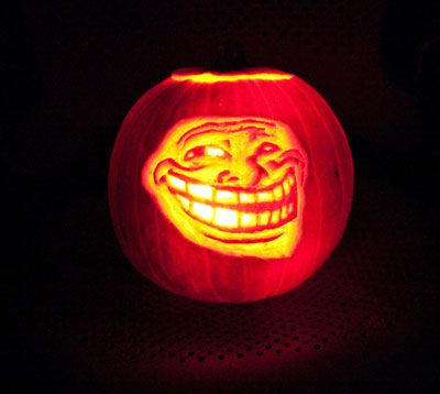 Troll Meme Pumpkin Carving
