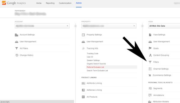 Google Analytics Filters Spam Referrals