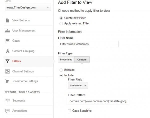 Filter by Valid Hostnames Google Analytcs