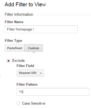 Google Analytics Filter Homepage to Block Referral Spam