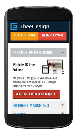 Google Mobile Friendly Test of TheeDesign.com