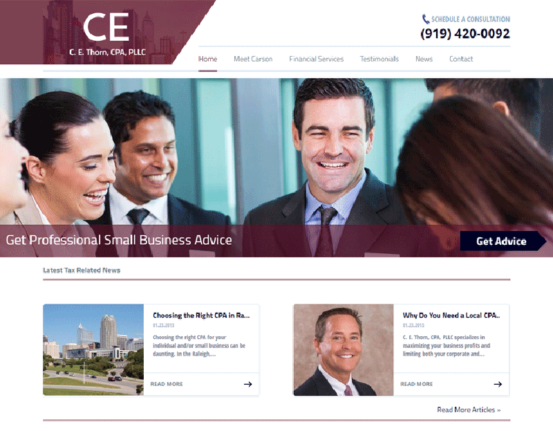 Accounting Firm Website Design For Accountants & CPA's | Raleigh, NC
