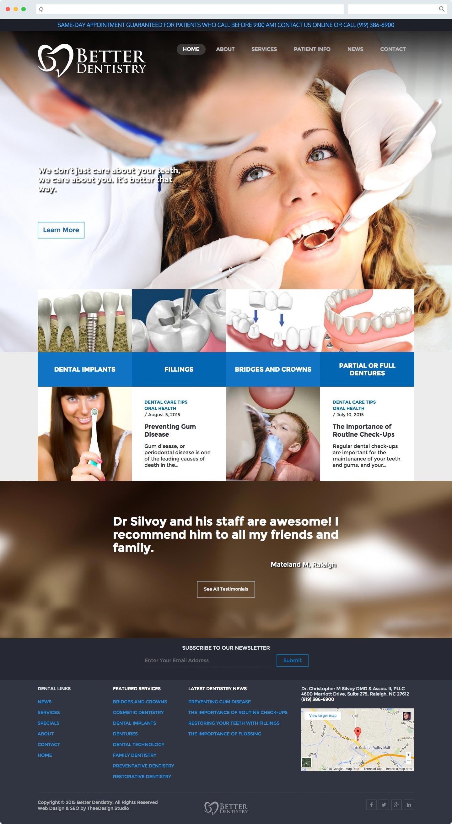 Dentist Web Design & SEO