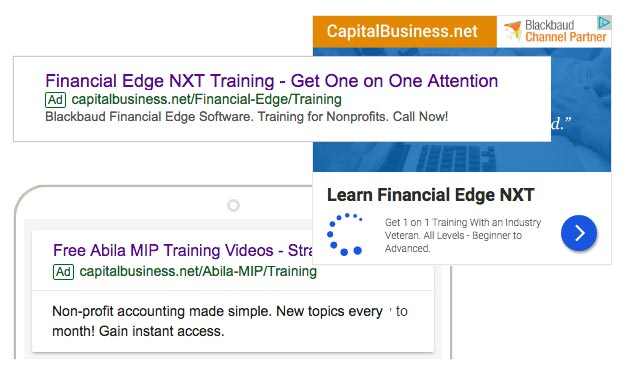 capital business google adwords ads