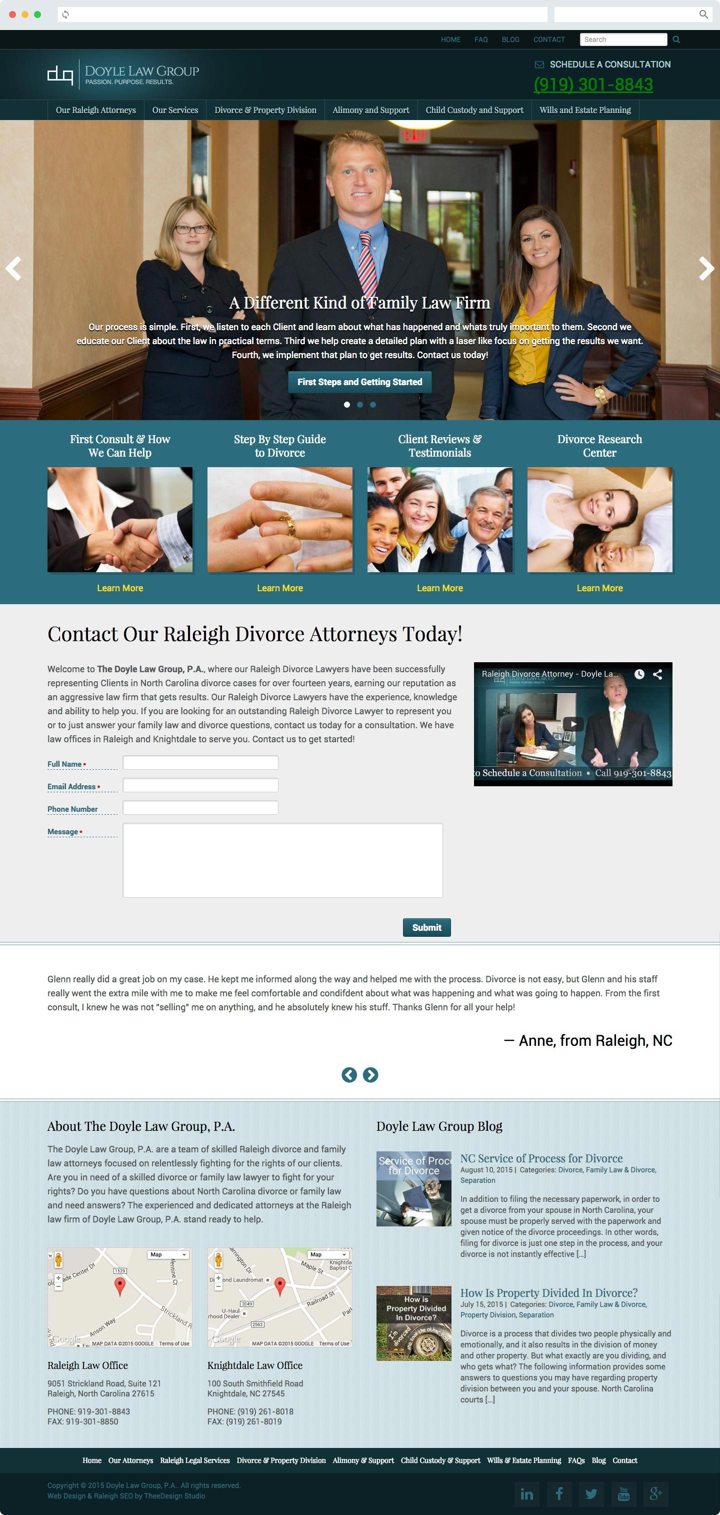 Raleigh Legal Web Design & SEO