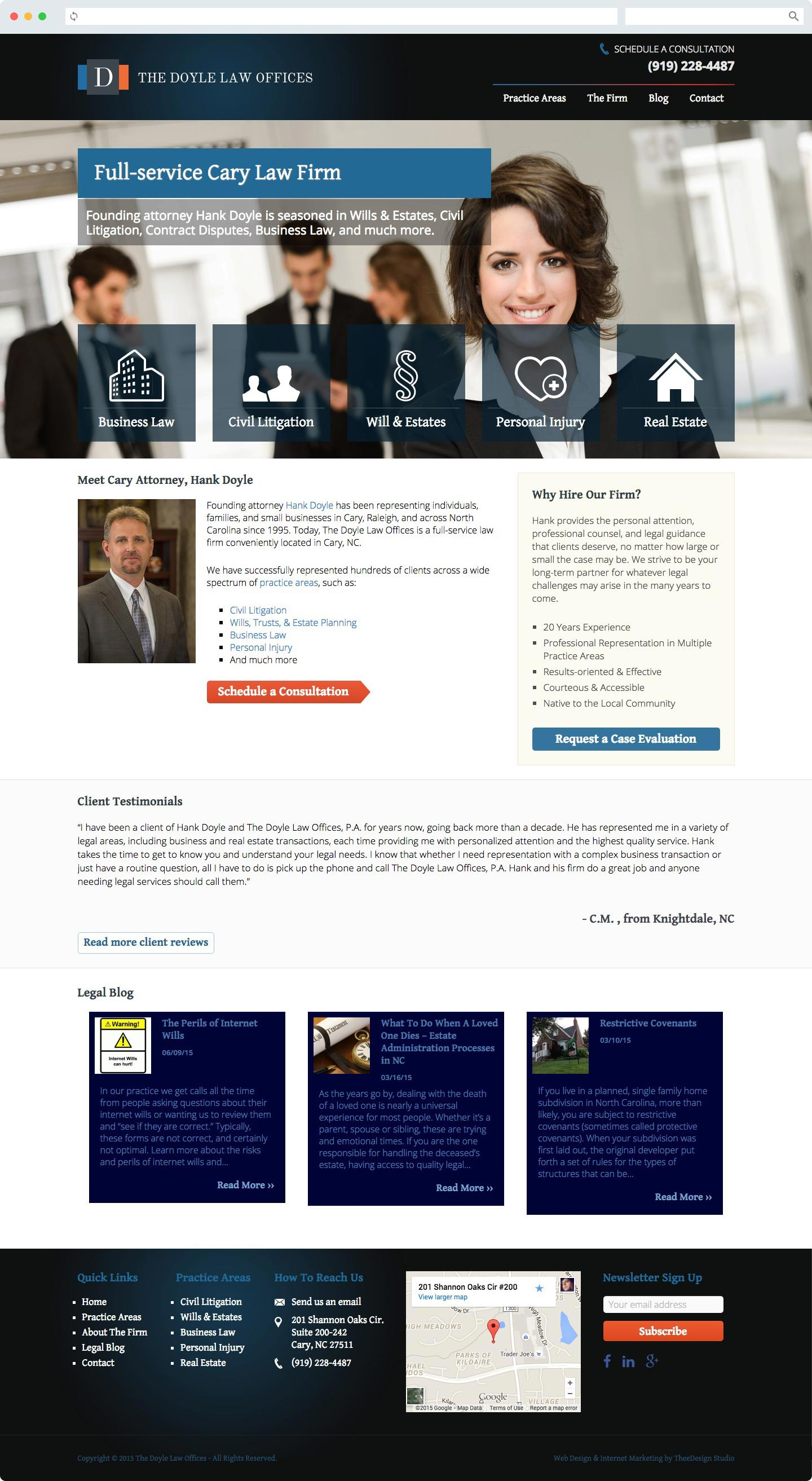 Attorney SEO & Legal Web Design Cary NC