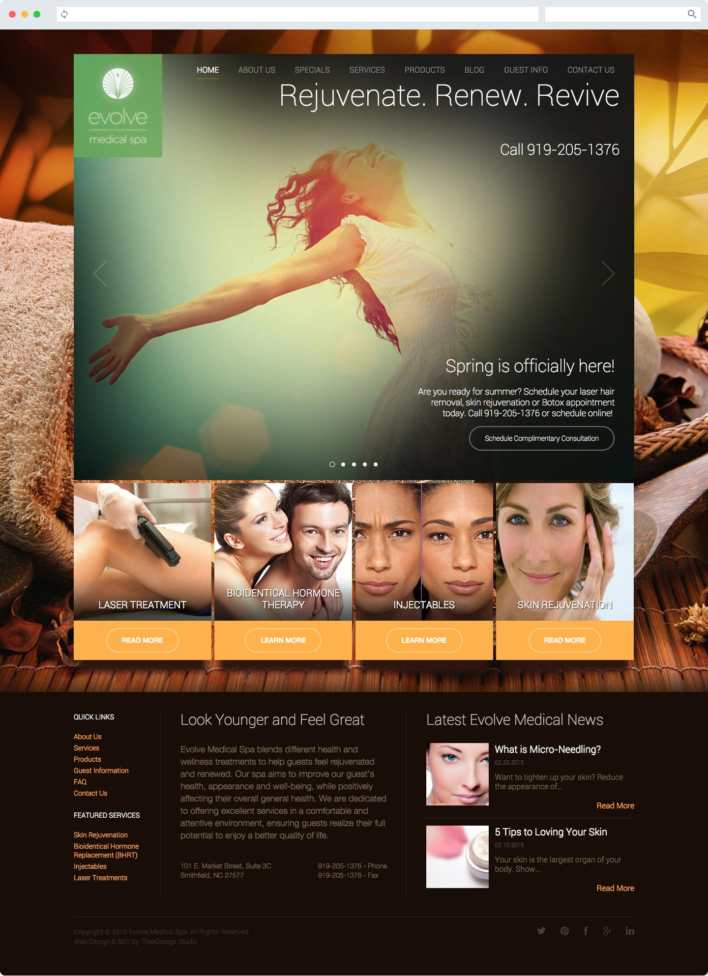 Raleigh Website Design for Medical Spa