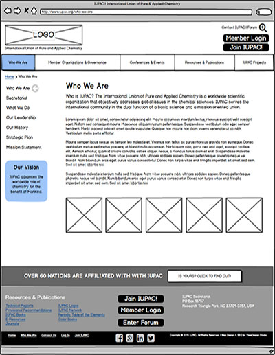IUPAC-Wireframe-Subpage