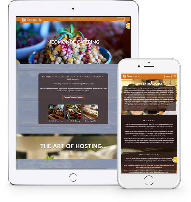 Mobile Web Design for Neomonde in Raleigh