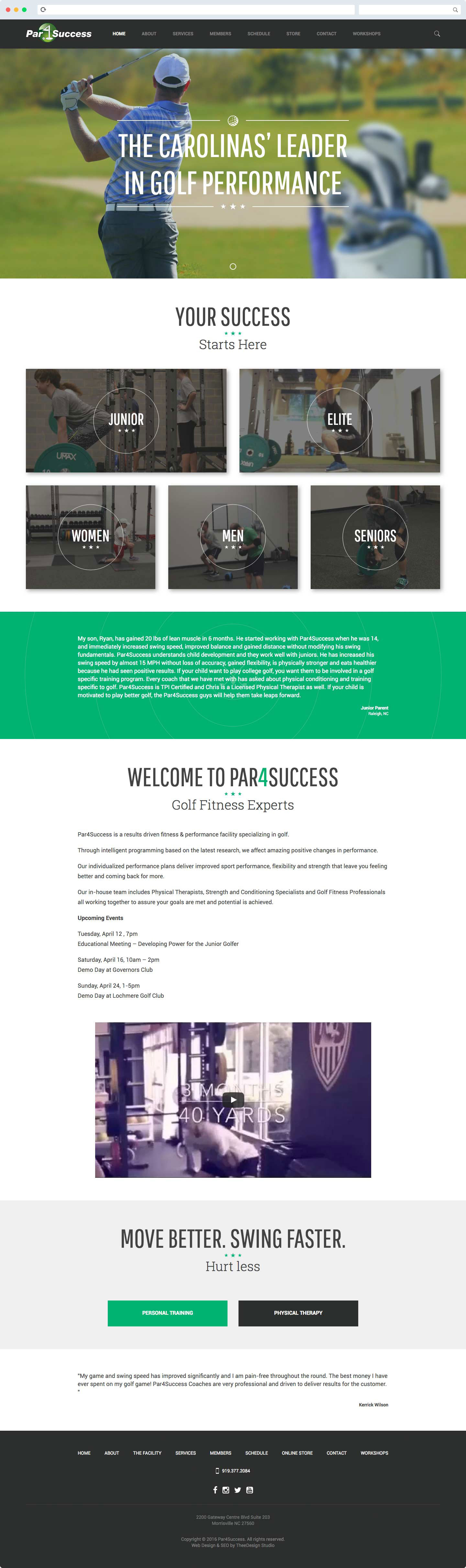 Website Redesign Par4Success