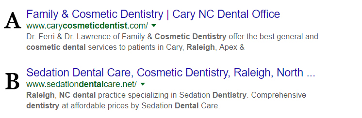 Raleigh Cosmetic Dentist Search Results