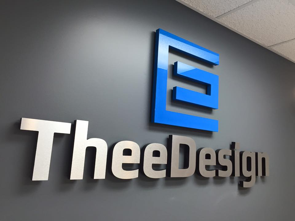 TheeDesign Sign New Office