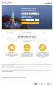 PPC Landing Page Example: Liberty Mutual
