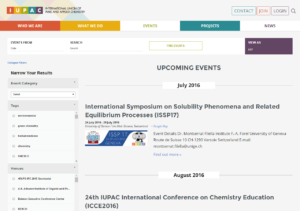 IUPAC Events Page