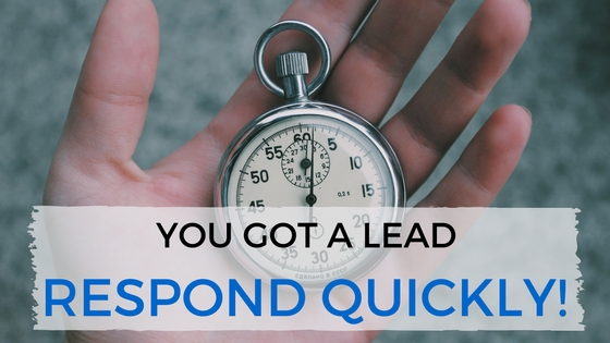 You've Got a Lead! Respond Quickly - TheeDesign