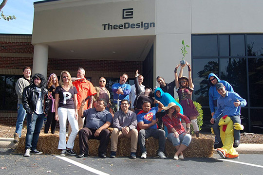 Halloween 2016 at TheeDesign - Raleigh Web Design and Digital Marketing - Team Photo