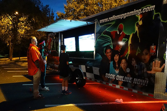 Halloween 2016 at TheeDesign - Raleigh Web Design and Digital Marketing - Game Truck by Roll On Up Gaming