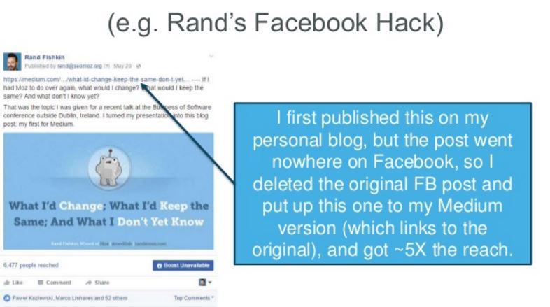 Rand Fishkin Facebook Post