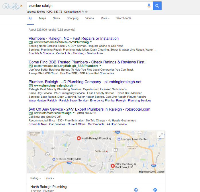Raleigh Paid Search Marketing