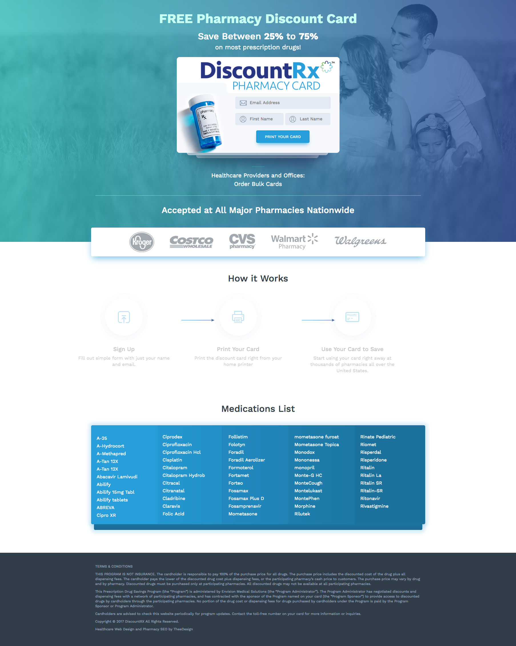 RX Discount Client web development in Raleigh, NC2