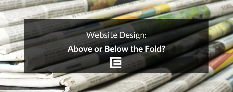 Website Design - Above or Below the Fold