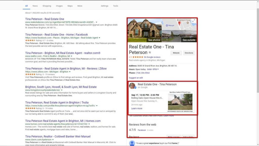 Advertising Open Houses with Google Posts