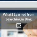 Bing Search Highlights