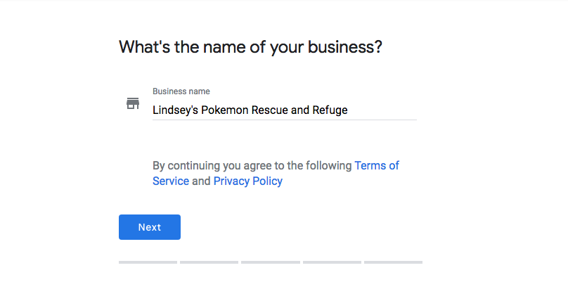 Enter Company Name - Google My Business