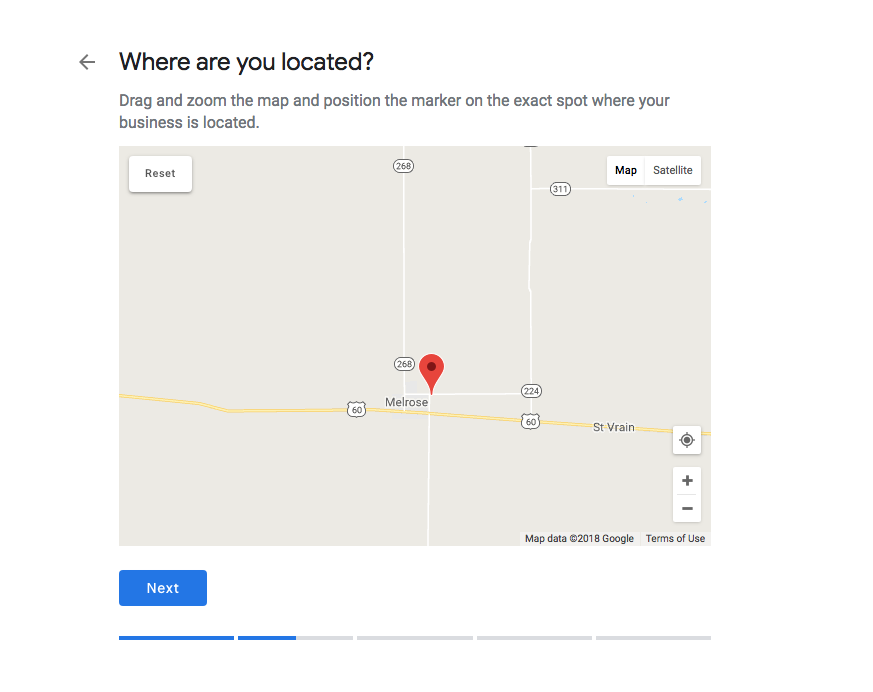 Drop the Pin on the Google Map at Your Location