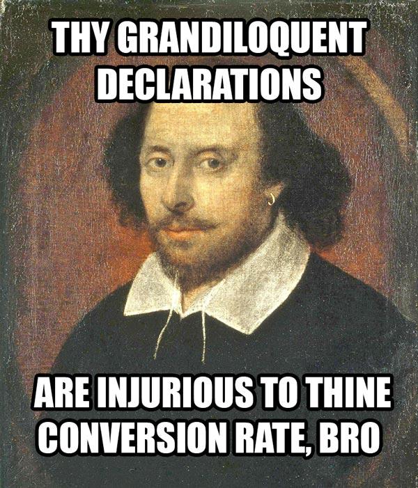 grandiloquent declarations