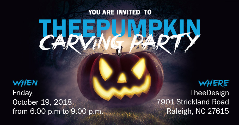 join us for theedesigns 7th annual pumpkin carving party in raleigh