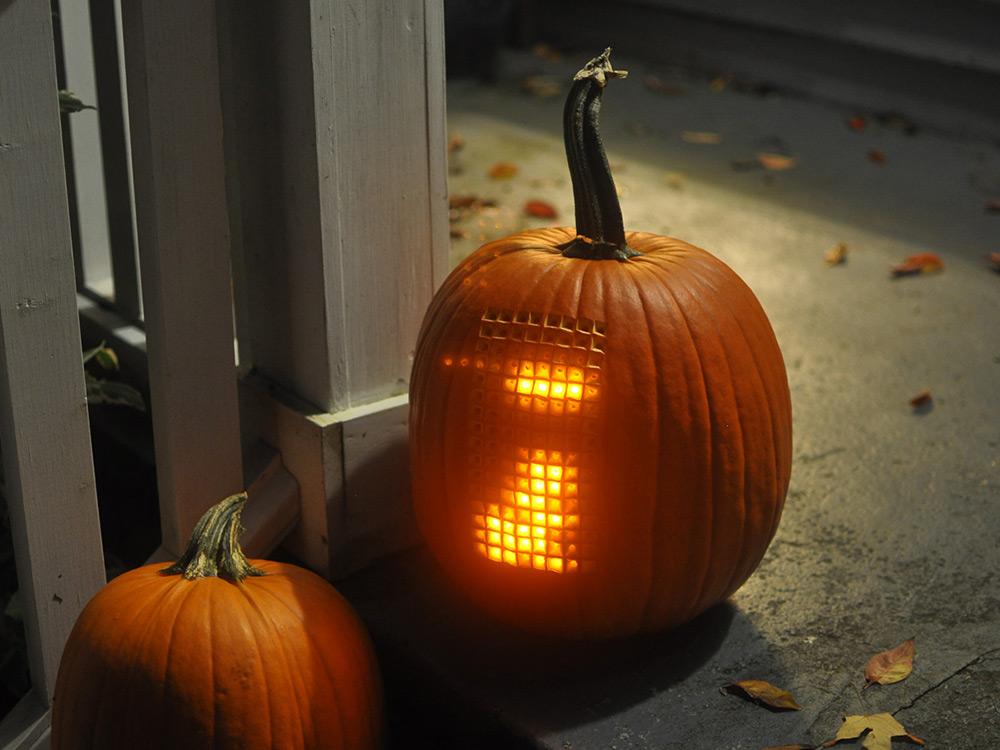 tetris pumpkin carving
