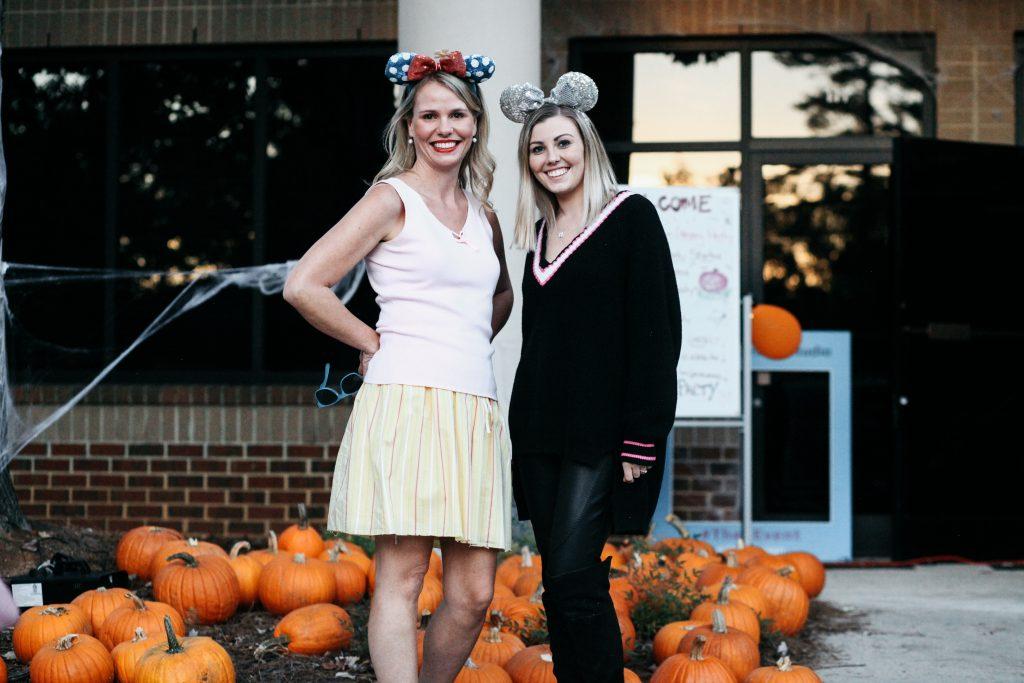 Kelsie & Leslie at TheeDesign Halloween 2018