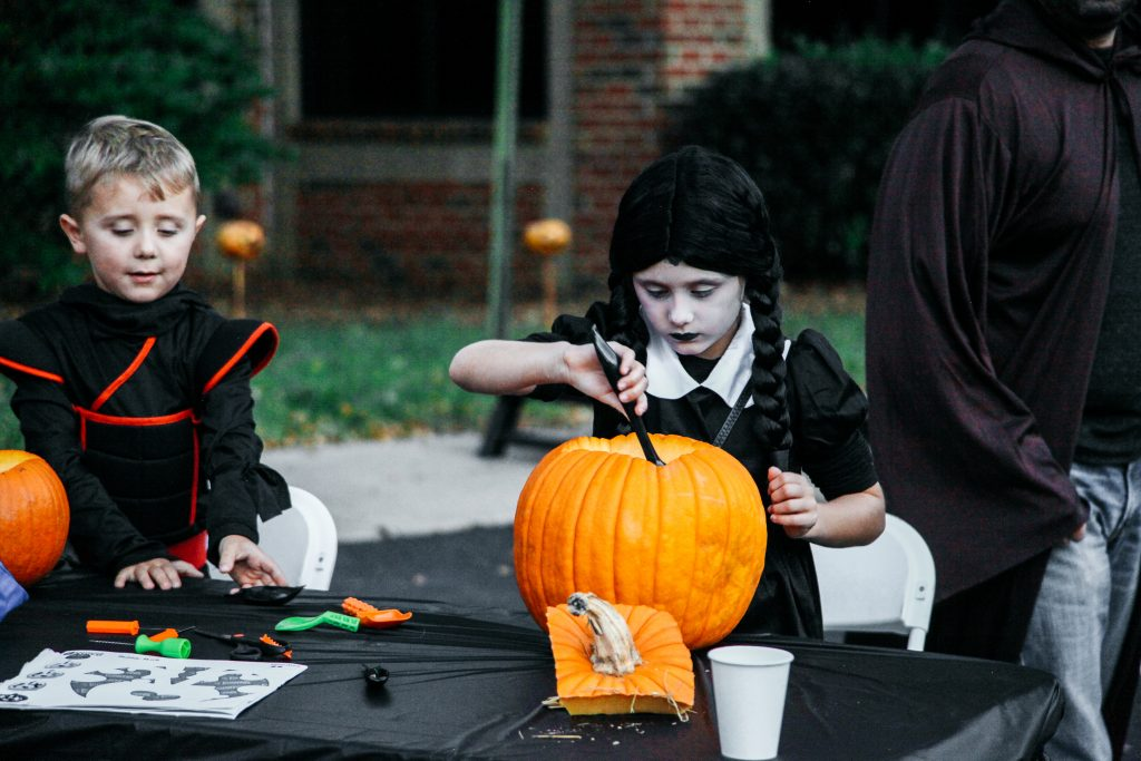 Costumes and Pumpkin Carving in Raleigh